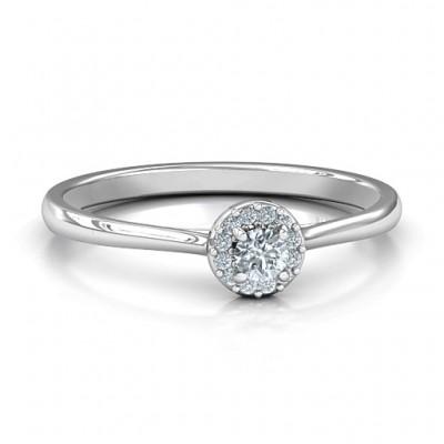 Kleine Luxus Halo Ring