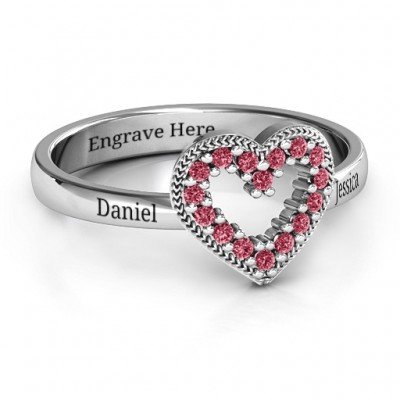 Love Story Herz Accent Ring