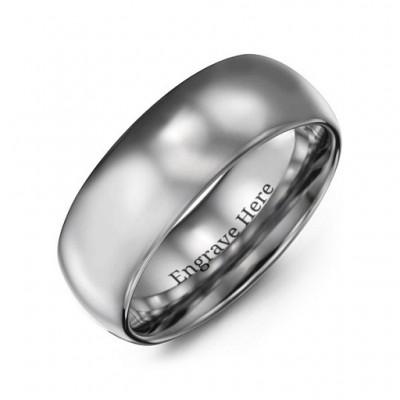 Herren Poliert Tungsten Dome 8mm Ring