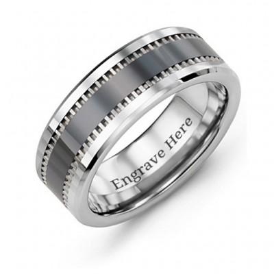 Herren Trail Tungsten Ring