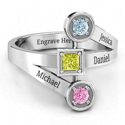 Moderne Geburtsstein Ring
