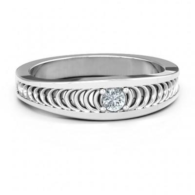 Moderne Eleganz Band Ring