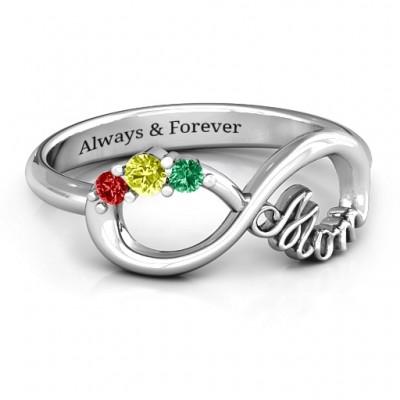 Mutter Unendliche Liebe Ring mit 2 10 Steine
