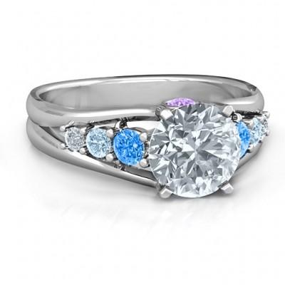 Radiant Love Ring mit Kragen Gems