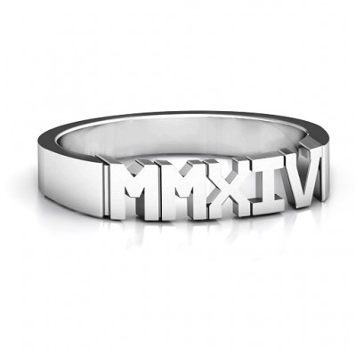 Römische Zahl Unisex Abschluss Ring