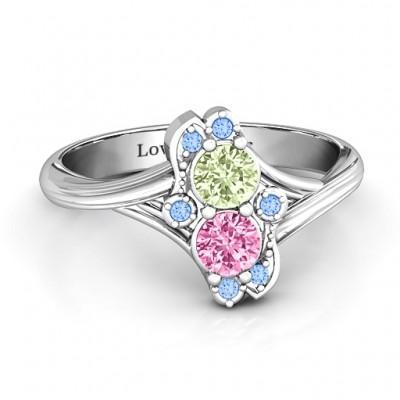 Sense of Style Zwei Stein Ring