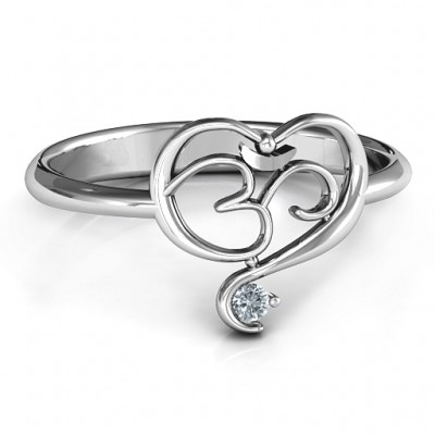 Geistiges Herz Om Ring