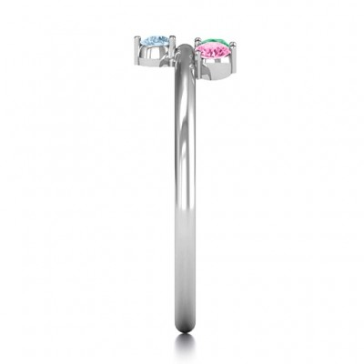 Stapelbare Sparkle 1 5 Stein Ring