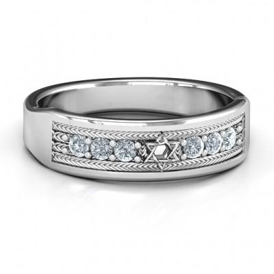 Davidstern Band Ring