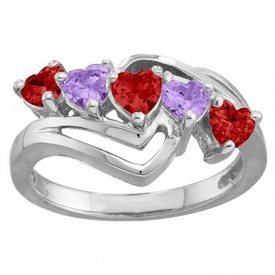 Starburst Herz Ring