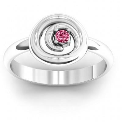 Sterling Silber wirbelnde Wunsch Ring