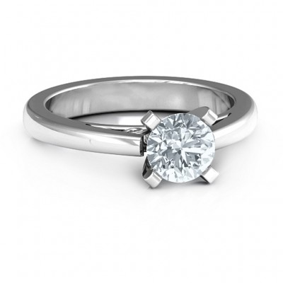 Sterling Silber Anbetung Solitaire Ring