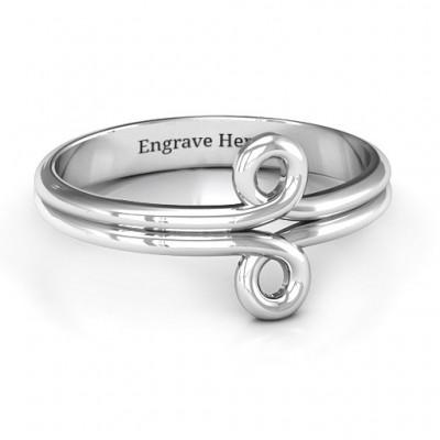 Sterling Silber Korbgeflecht Loop Ring