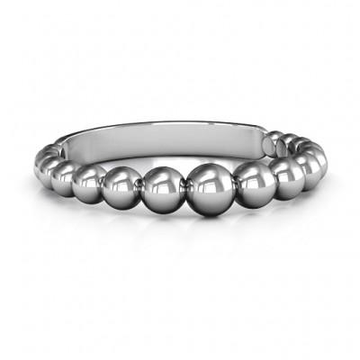 Sterling Silber wulstige Schönheit Ring