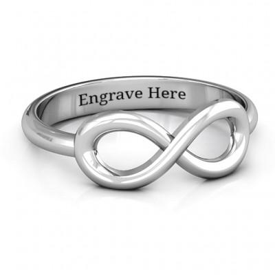 Sterling Silber Klassik Infinity Ring