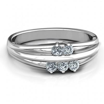 Sterling Silber Everlasting Bonds Ring