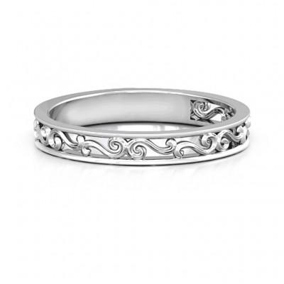 Sterling Silber Filigree Band Ring