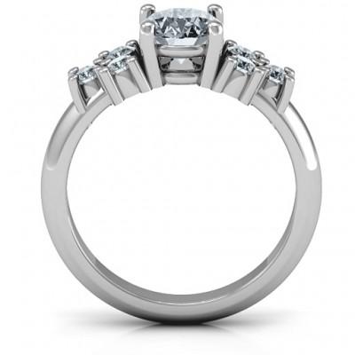 Sterling Silber Flourish Verlobungsring