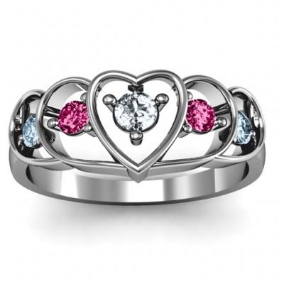 Sterlingsilber Herz Collagen Ring