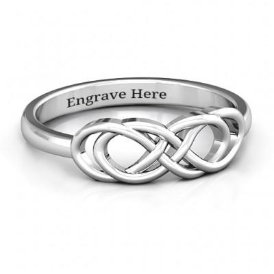 Sterling Silber Infinity Knoten Ring