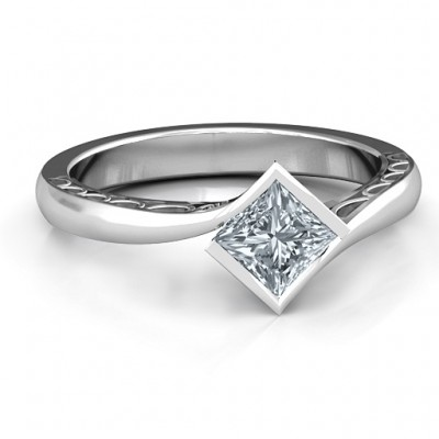 Sterling Silber Krista Princess Cut Ring