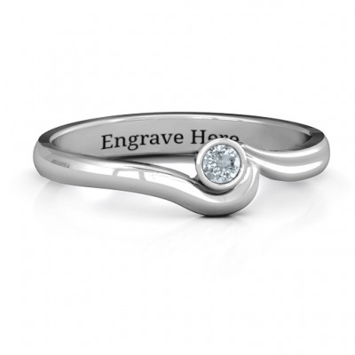 Sterling Silber Low Wellen Ring