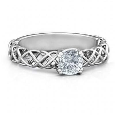 Sterling Silber Tangled in Love Ring