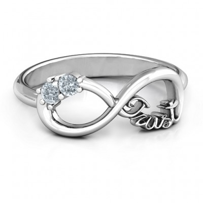 Sterling Silver Trust Infinity Ring
