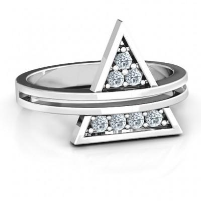 Dreieck von Glam Geometric Ring