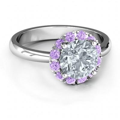 Victoria Einzel Halo Ring