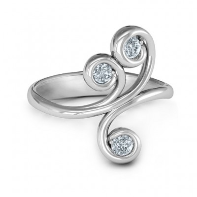 Skurril Waves 3 Stein Ring