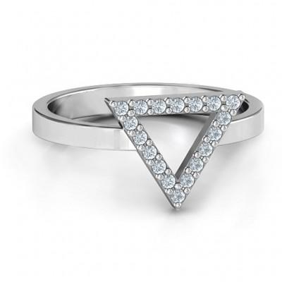 Ihr bestes Dreieck mit Akzenten Ring