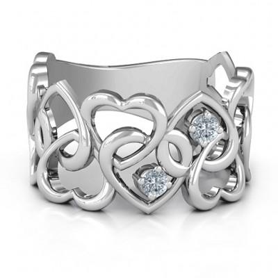 Ihr Herz und Minen Ring