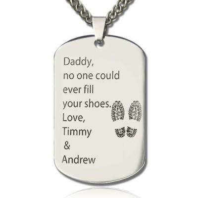 Vatertags Geschenk Dog Tag Namenskette