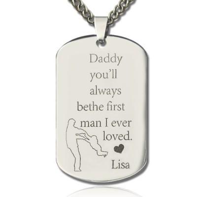 Liebe des Vaters Dog Tag Namenskette