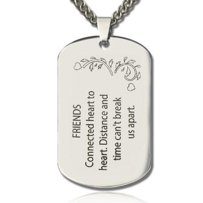Beste Freunde Hund Tag Name Halskette