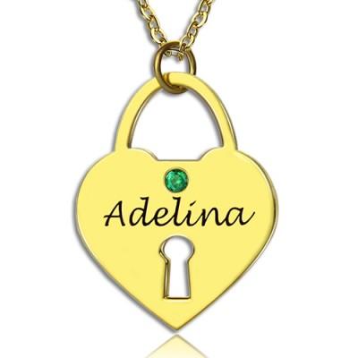 Ich liebe dich Herz Verschluss Andenken Halskette mit Namen 18 karätigem Gold überzogen