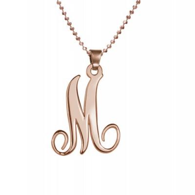 18ct Rose Gold überzogen Einzel Anfängliche Halskette