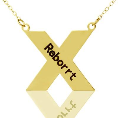 Personalisierte 18ct Gold überzogenes Silber St. Andrew Name Kreuz Halskette