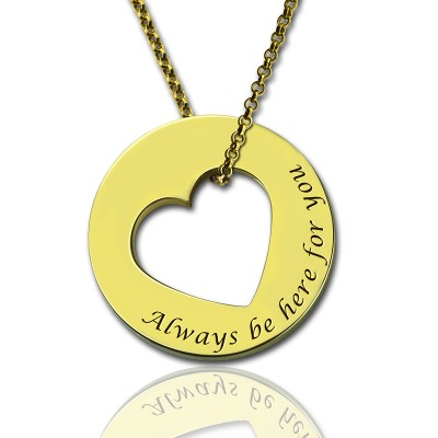 Always Be Here For You Versprechen Halskette