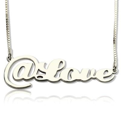 Twitter Auf Symbol Name Halskette aus Sterling Silber
