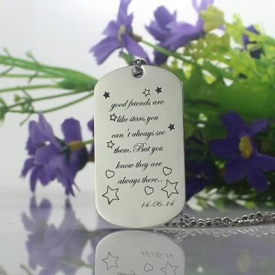 Best Friends Gift Dog Tag Namenskette