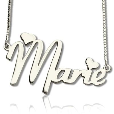 Personalisierte Nettes Namen Halskette aus Sterling Silber