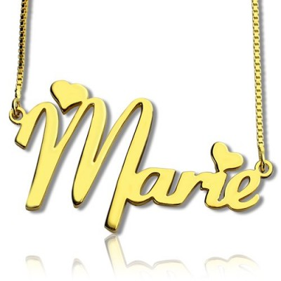 Bedingungslose Halskette für Mädchen 18 karätigem Gold überzogen