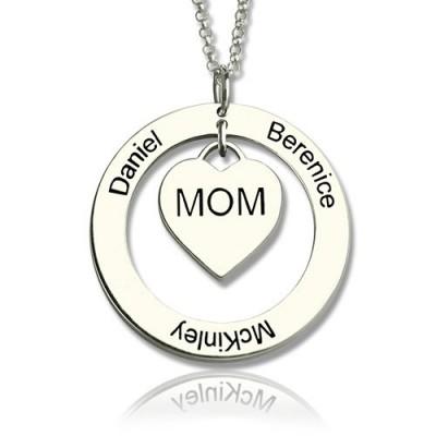 Familiennamen Halskette für Mamma Sterlingsilber