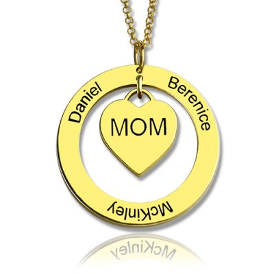 Family Names Halskette für Mamma 18ct Gold Plating