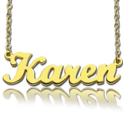 18 karätigem Gold überzogen Karen Art Name Halskette