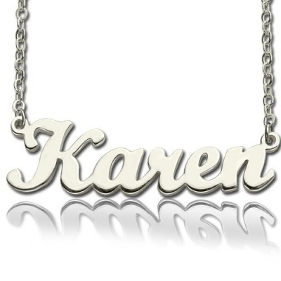 Personalisierte Skriptname Halskette aus Sterling Silber