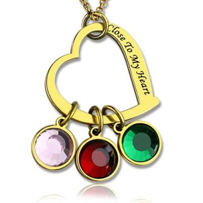 Personalisierte Nähe Mein Herz Halskette 18 karätigem Gold überzogen