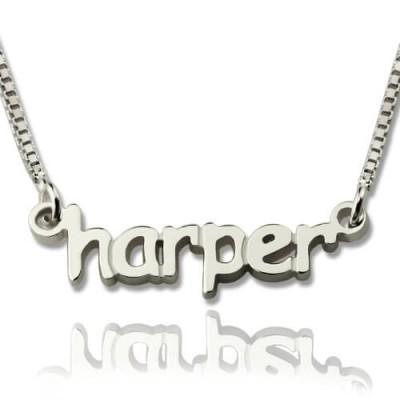 Personalisierte Mini Namensbuchstaben Halskette aus Sterling Silber